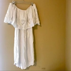 Free People ~ Strapless white dress